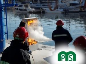 Prácticas con Extintores MPS Formación en Seguridad Marina