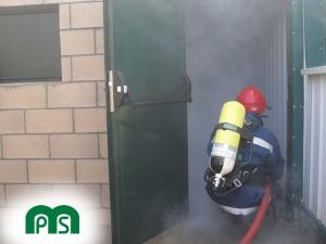 Prevención de Incendios MPS - Prácticas Fuego interior con manguera ERA